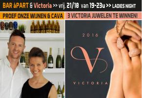 Ladies night: BAR à PART & Victoria juwelen 21/10