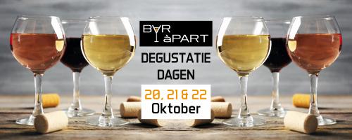 BAR àPART Degustatiedagen 20, 21, 22 en 24 oktober