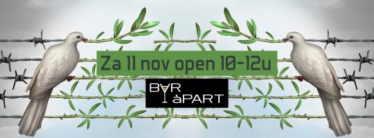 Zaterdag 11 november open van 10u tot 12u