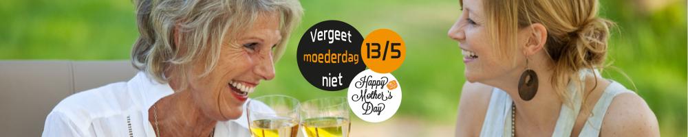 Vergeet moederdag niet op zondag 13 mei!