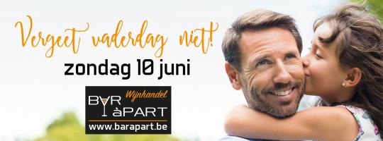 Vergeet vaderdag niet op 10 juni