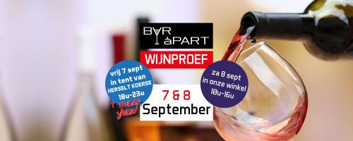 Wijndegustatie 7 en 8 september in Herselt