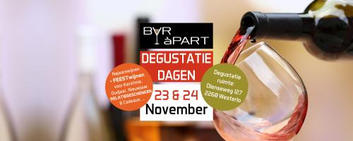 Degustatiedagen BAR àPART 23 en 24 november 2019