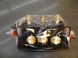 Ruinart Champagne in geschenkmand