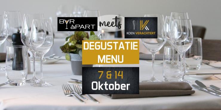 BAR àPART meets KOEN VERACHTERT op 7 en 14 oktober