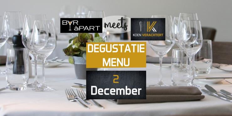 BAR àPART meets KOEN VERACHTERT op 2 december