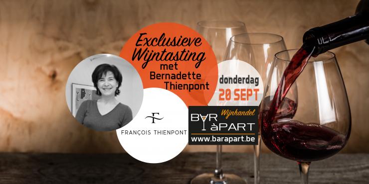 Exclusieve wijntasting François Thienpont met Bernadette Thienpont • dond 20 september