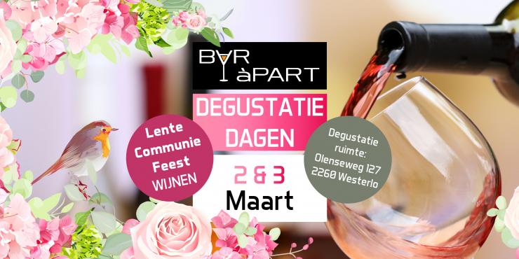Degustatiedagen BAR àPART 2 en 3 maart 2019