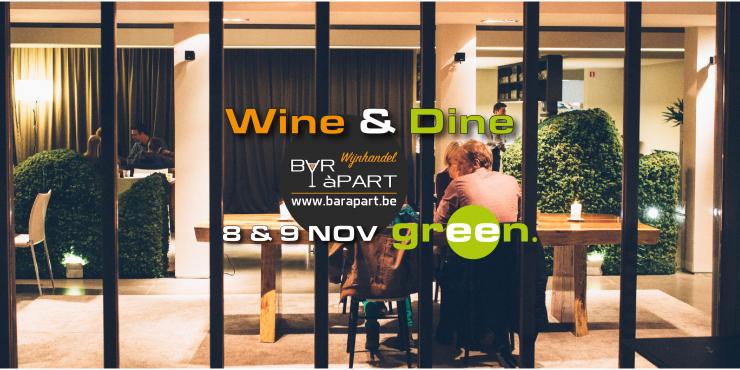 WINE 'N DINE @ GREEN op 8 en 9 november